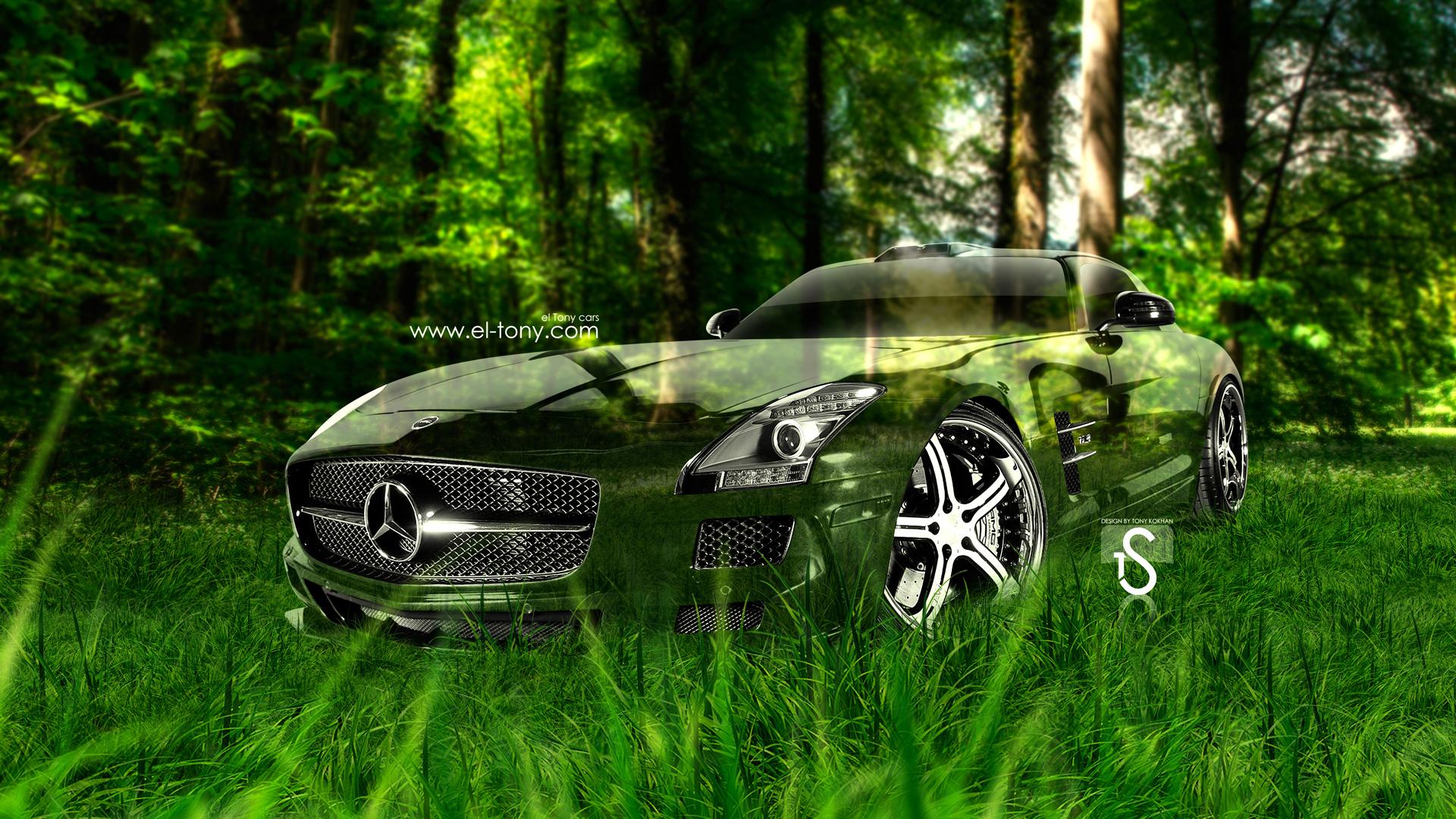 Mercedes Benz Sls Amg Crystal Nature Car 2013 Hd Wallpapers Design