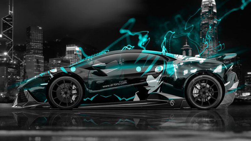 Delightful Lamborghini Huracan Mansory Tuning Side Anime Boy Aerography