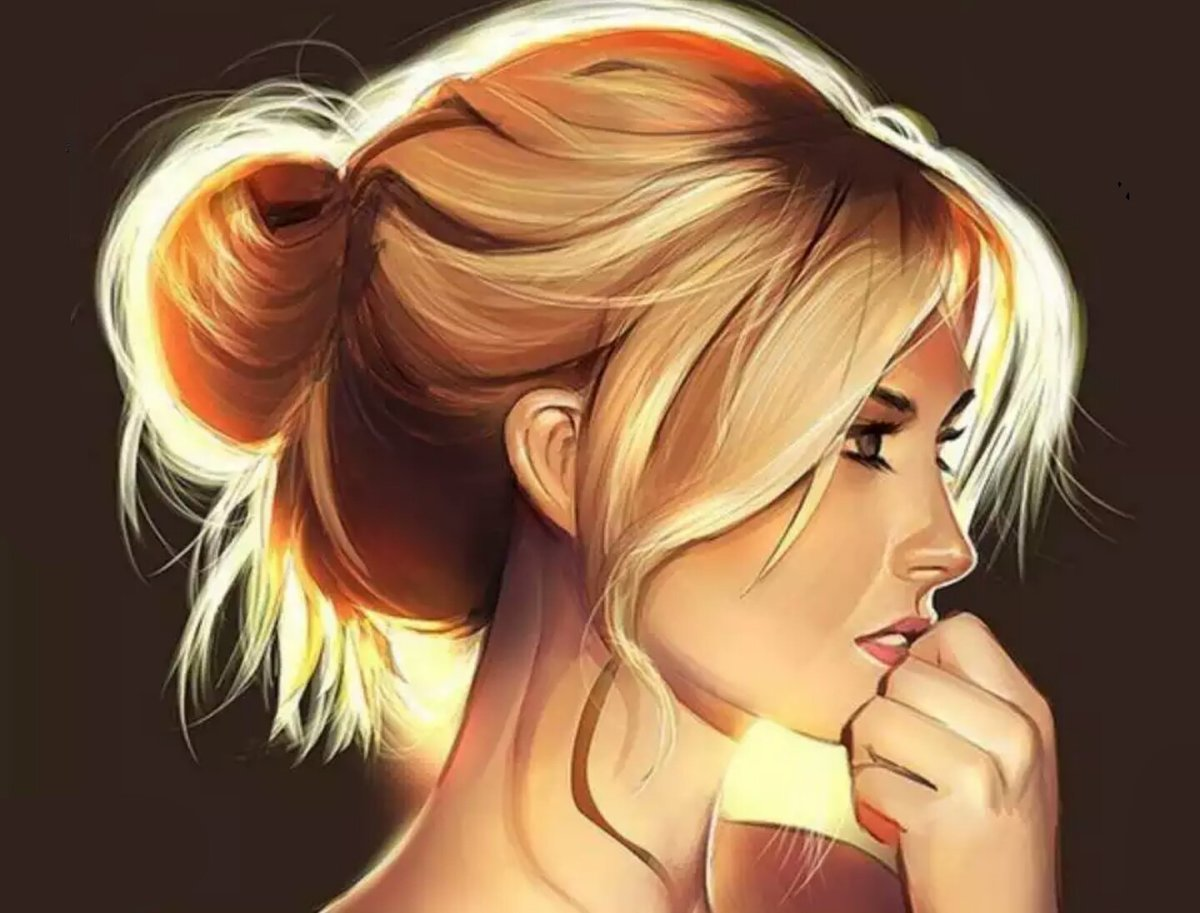 Прикольный рисунок девушка