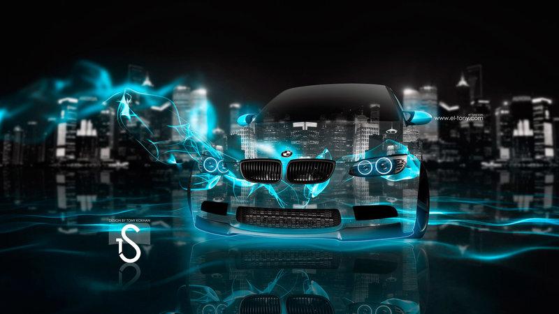 BMW Fantasy Crystal City Super Energy Night Car