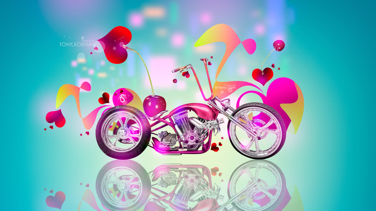 Fantasy Fruit Moto Cherry Berry Chopper Mini Bike