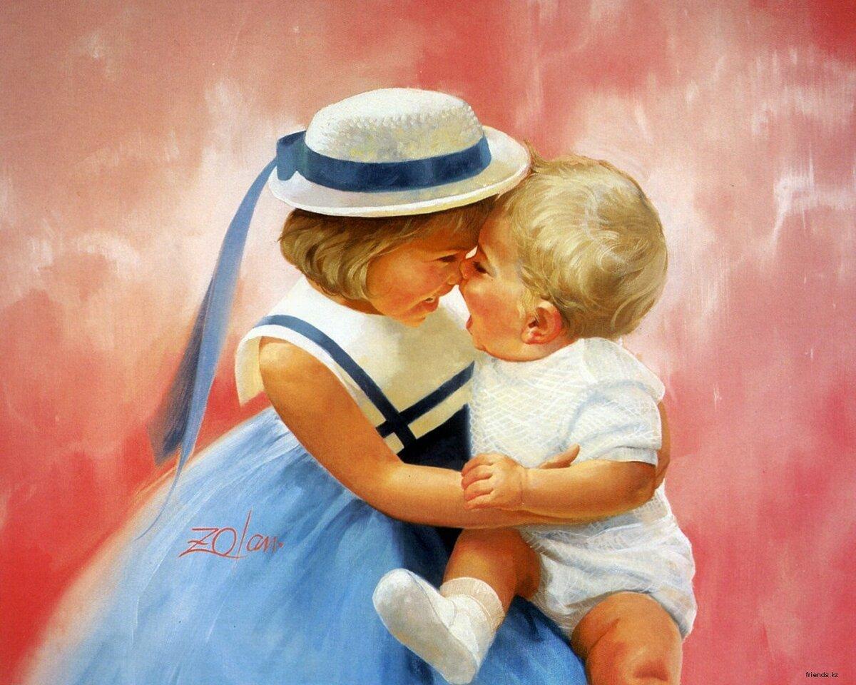 Открытки, открытки любви с малышами