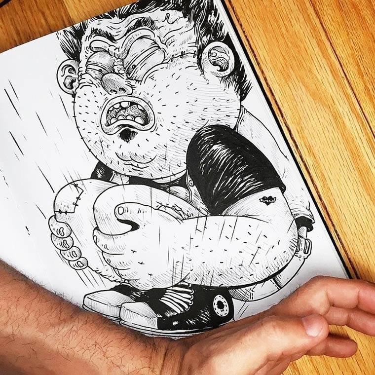 Днем, прикольные рисунки для срисовки гелевой ручкой