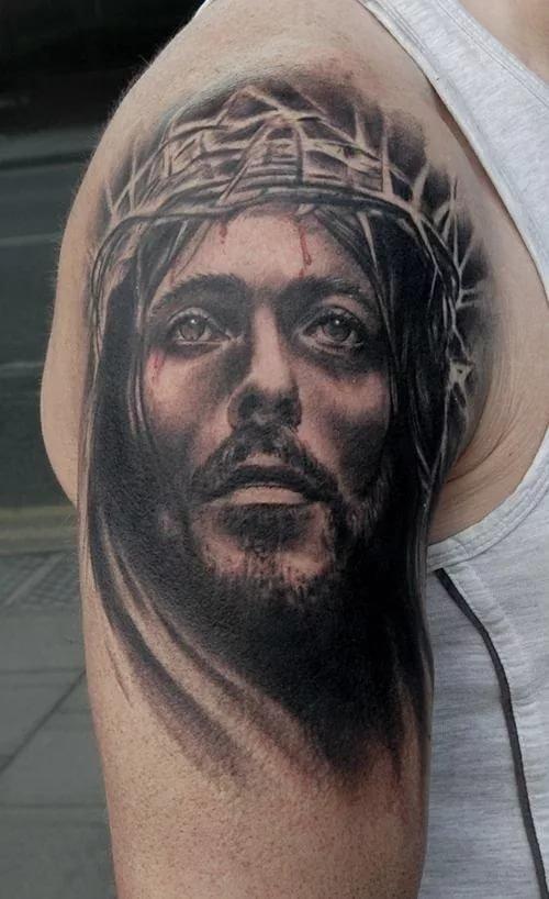 тату иисус на руке картинки сетевика