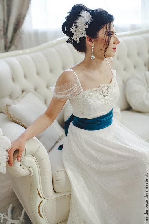 8c3a0b04a14 ... Свадебное платье с шелковым поясом – купить или заказать в интернет- магазине на Ярмарке Мастеров