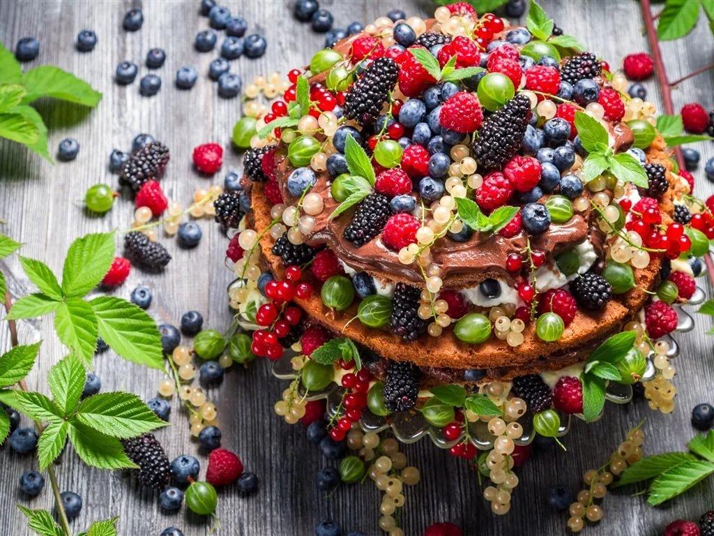 Поздравительные открытки с ягодами, картинка голод