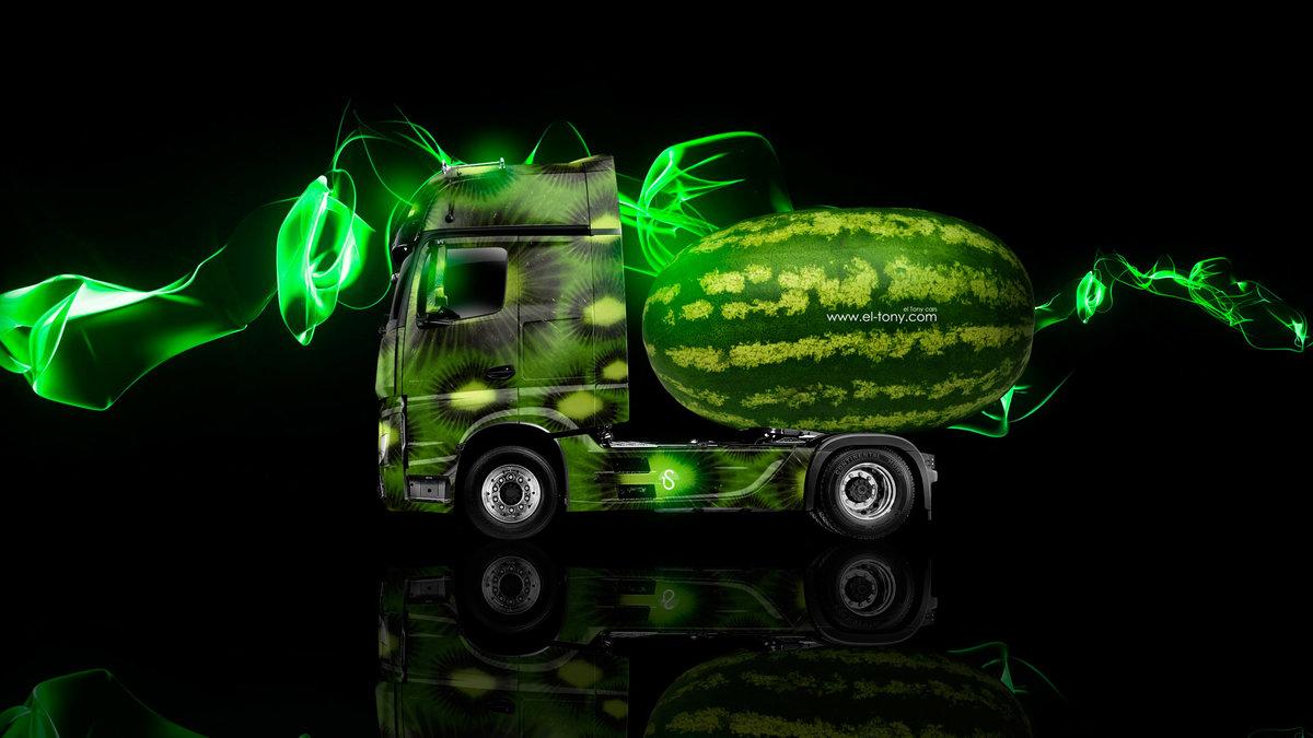 Mercedes Benz Actros IV Truck Side Kiwi Aerography