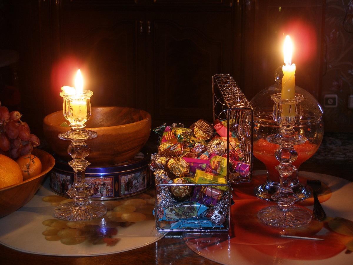 Открытки, открытки вечер при свечах