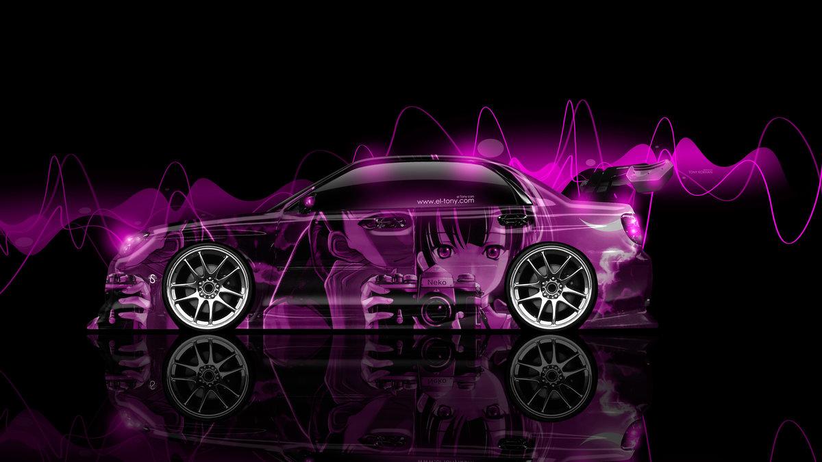Subaru Impreza WRX STI JDM Tuning Japan Side