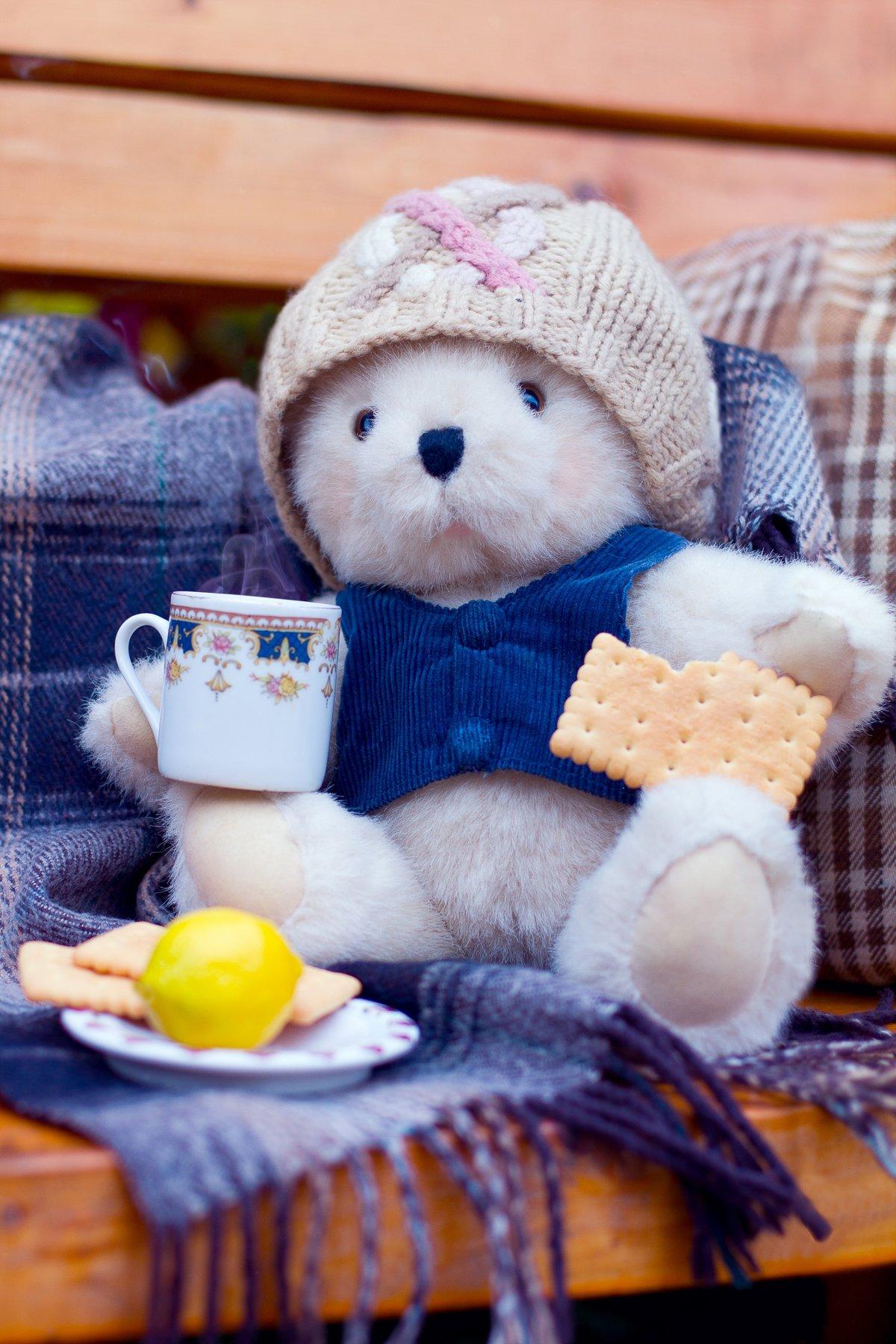 Доброе утро открытка с медвежонком