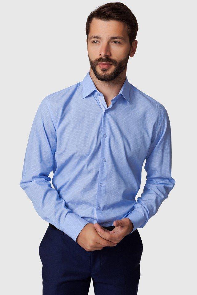 9e684c036f21fe8 Цвет: Приталенная хлопковая мужская рубашка kanzler KANZLER • Состав: 100% хлопок. • Цвет: