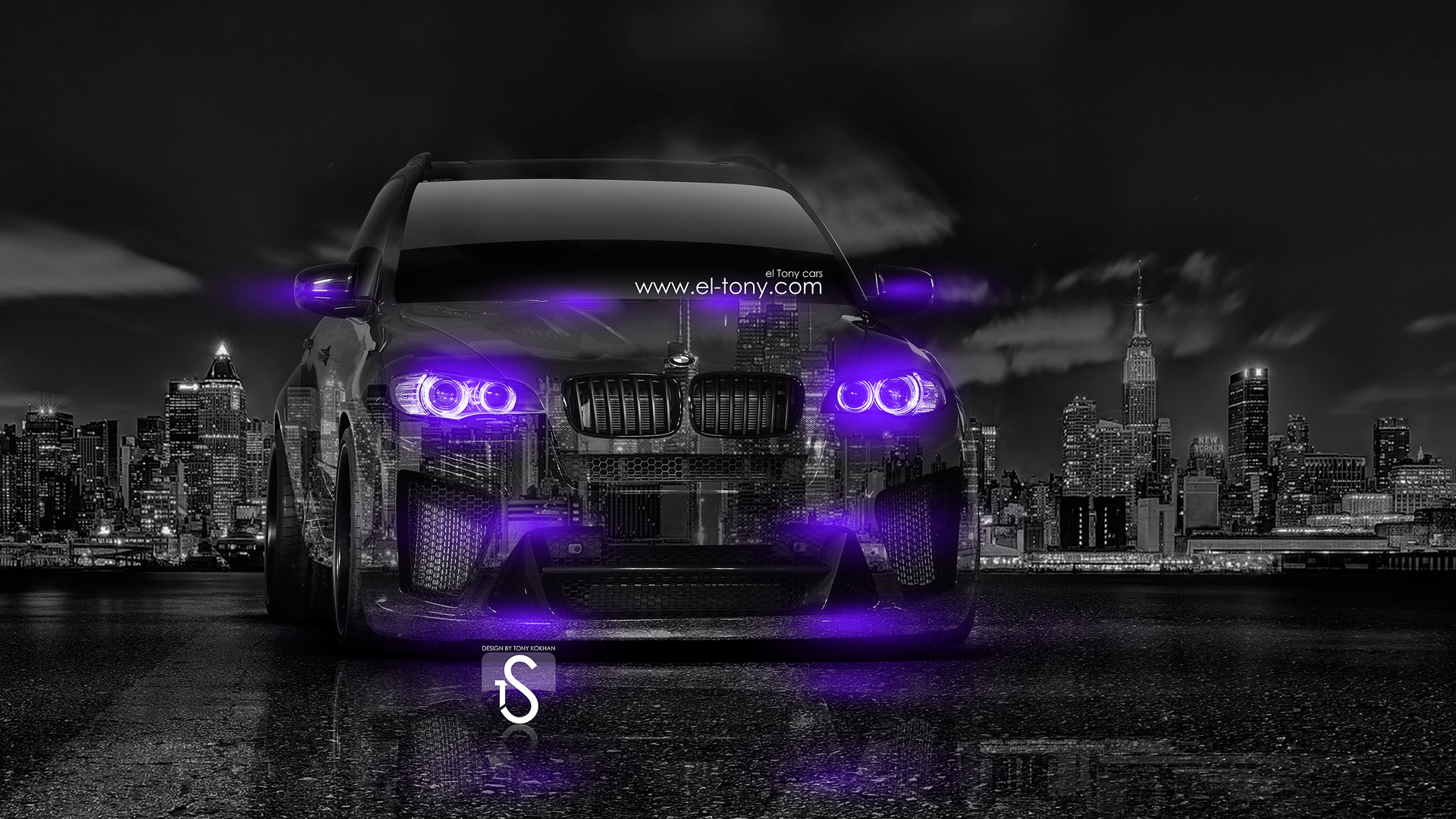 BMW X5M Violet Neon Crystal City Car 2014 HD Wallpapers Design By ...