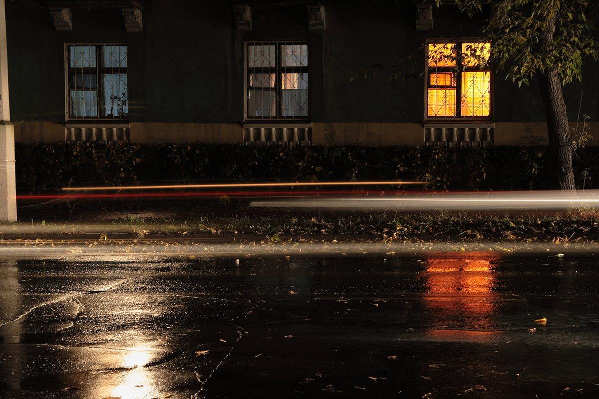 свет ночного города тает на земле - 9