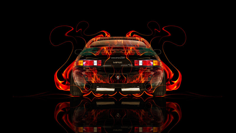 Toyota MR2 JDM Back Fire Abstract Car 2014
