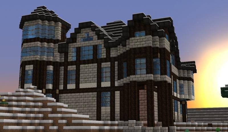 самом красивые большие дома в майнкрафте фото новую четыре года