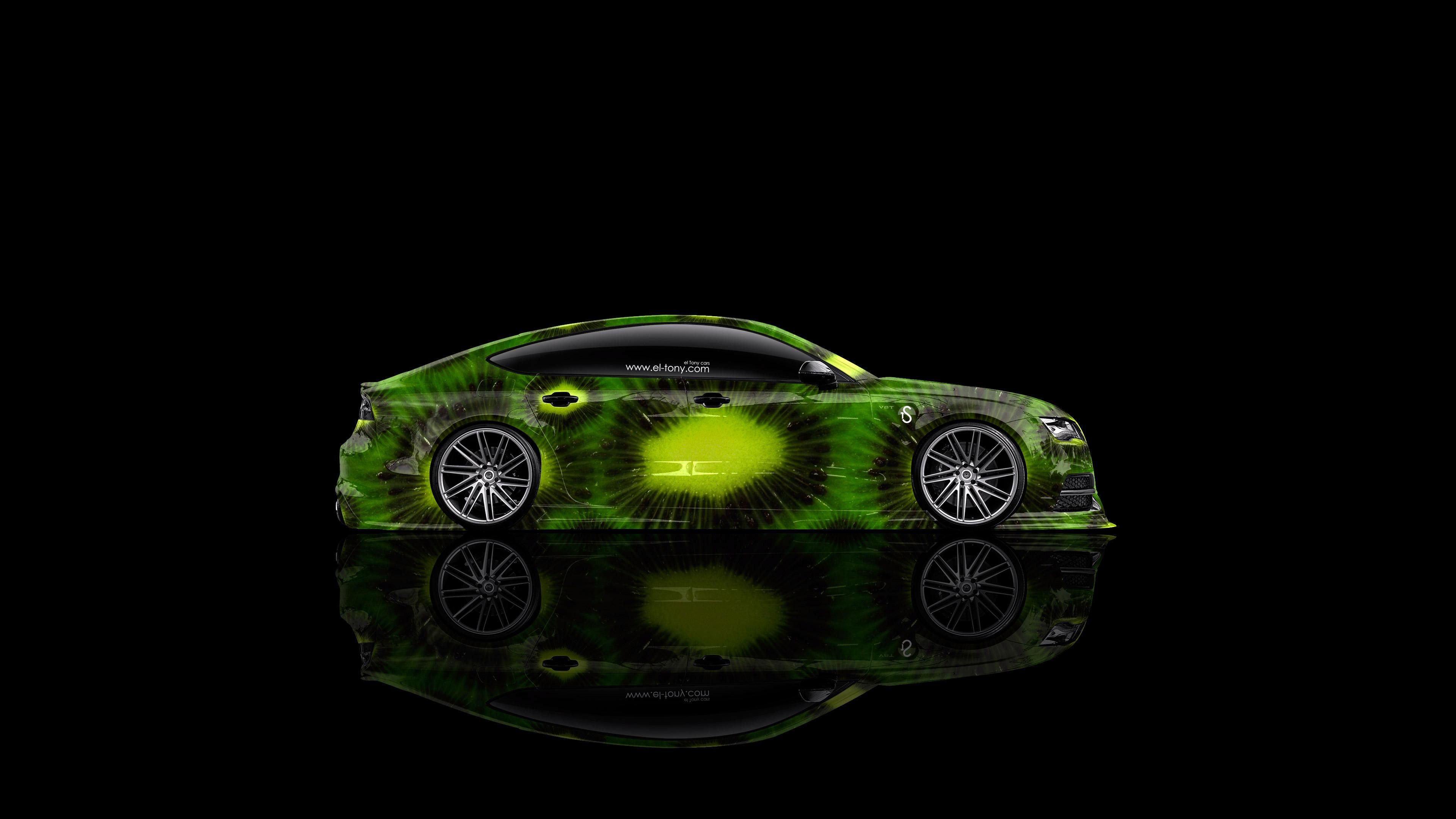 Nice «Audi RS7 Side Kiwi Aerography Car  2014 Green Colors 4K Wallpapers Design By Tony Kokhan Www.el Tony.com_  (3840×2160) 4K Audi RS7 Side Kiwi Aerography ...