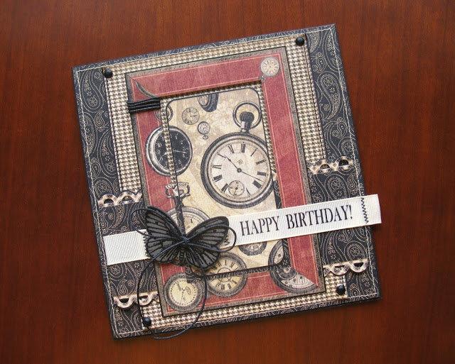 Олечки день, открытка ручной работы для мужчины на день рождения