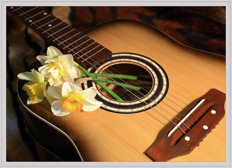 Поздравительные открытки с гитарой