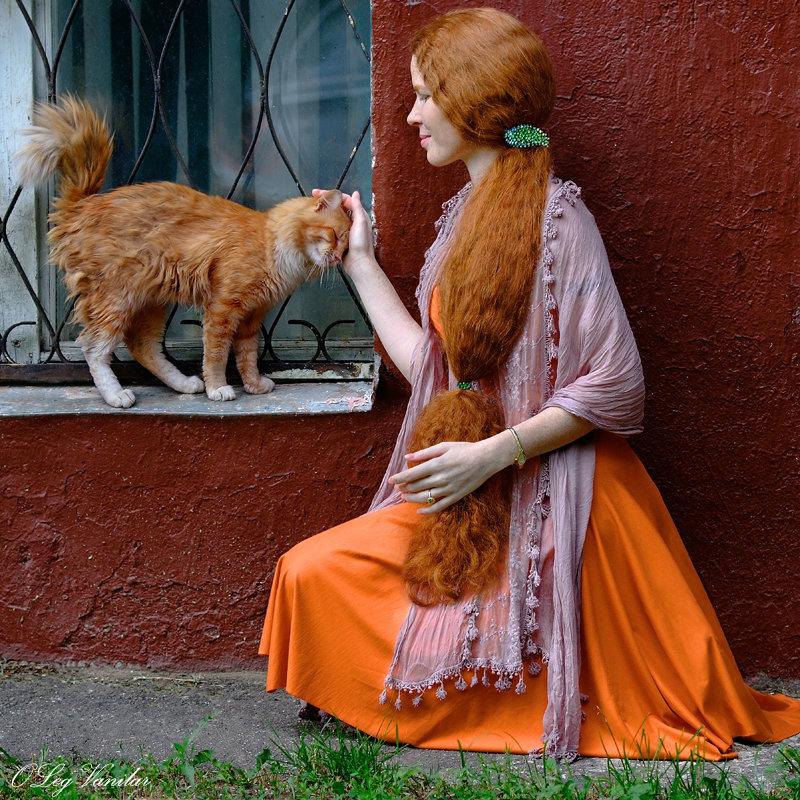 Картинка хватит, смешная картинка женщина и кошки