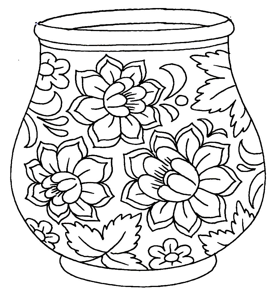 только роспись на вазе рисунок отличие