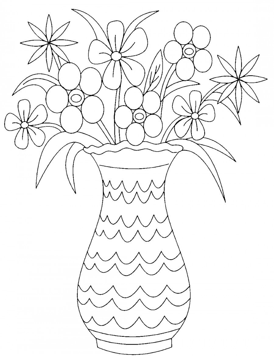 Сильным женщинам, открытка на 8 марта ваза с цветами с шаблонами