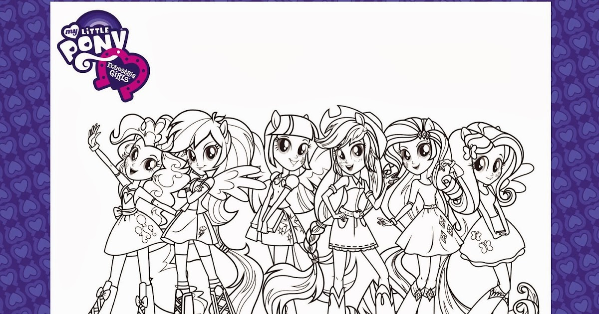 HD wallpapers coloring pages my little pony rainbow rocks em\
