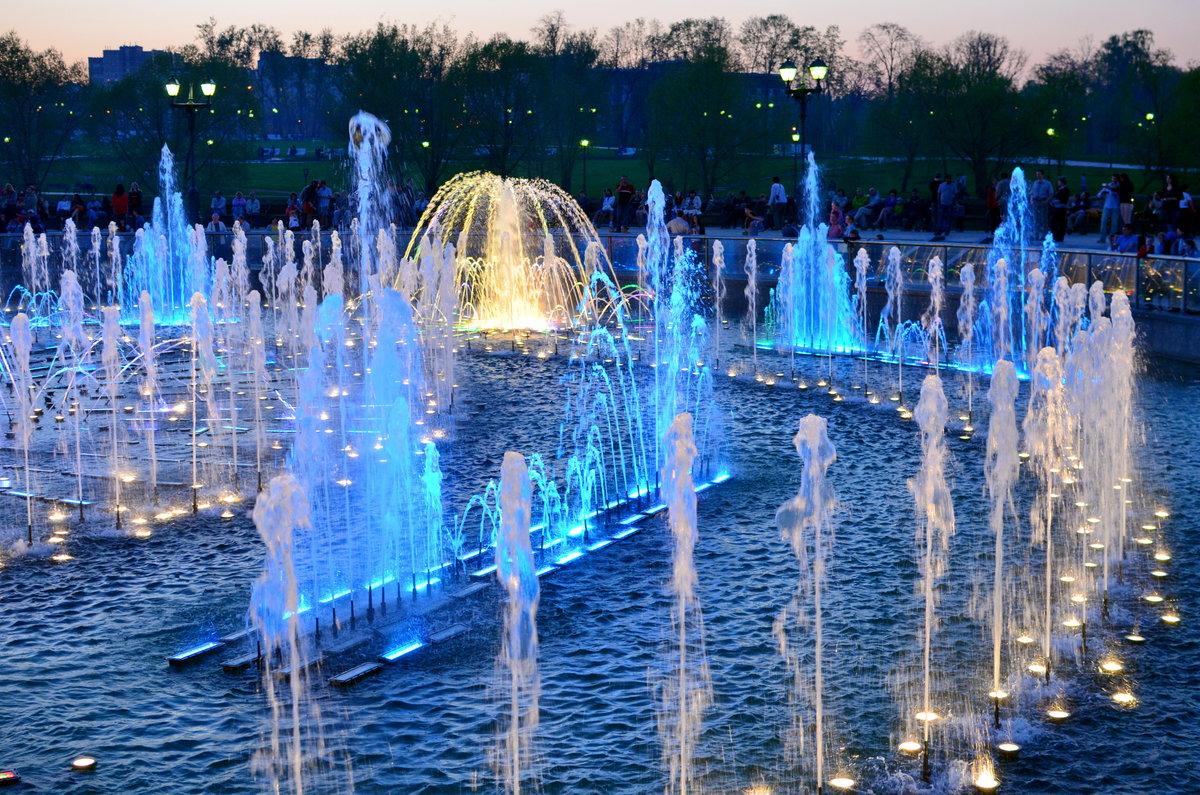 Открытка фонтаны
