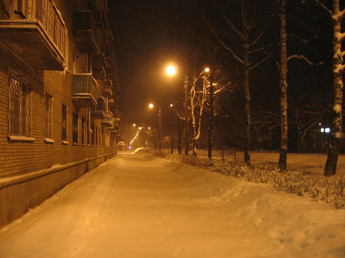Картинки город зима ночь увеличения
