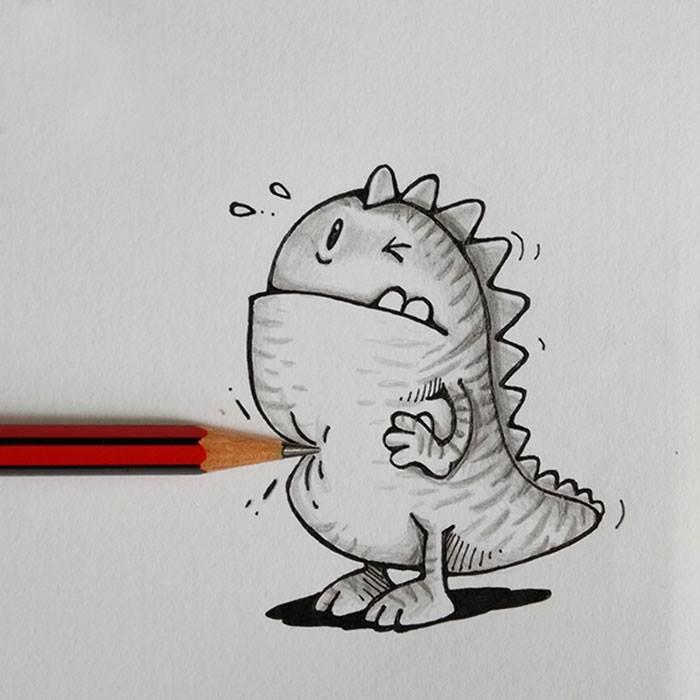 Прикольные креативные картинки для срисовки, подписать открытку