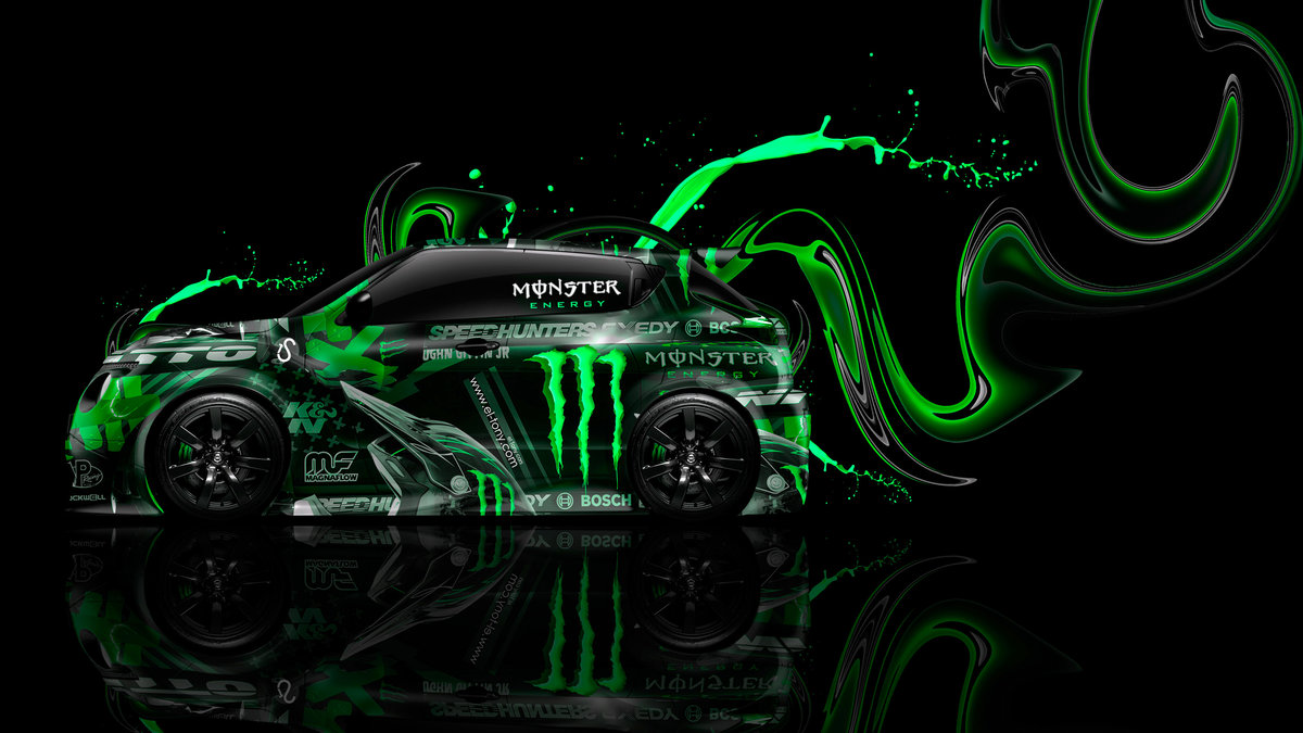 Monster Energy Nissan Juke R Side Super Plastic