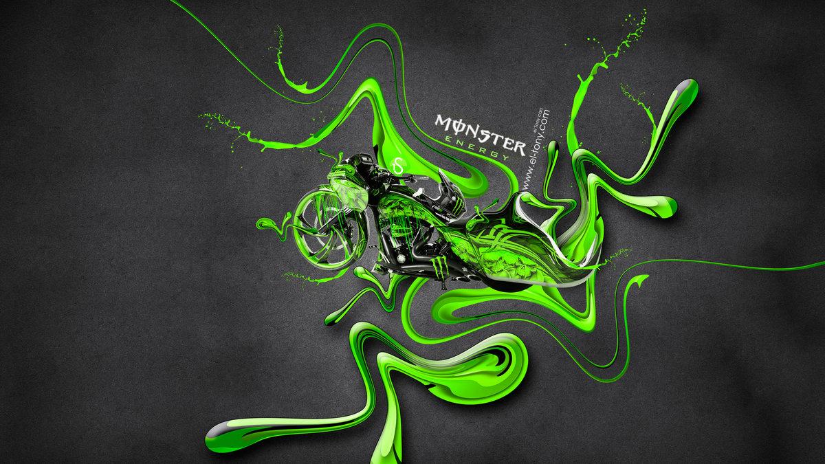 Monster Energy Moto Chopper Fantasy Super Plastic Bike
