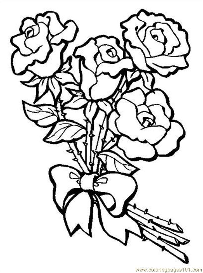 Раскрасить открытку с цветами