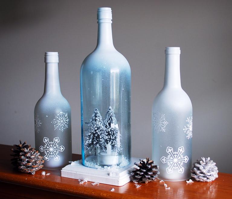 wine bottle crafts - 768×661