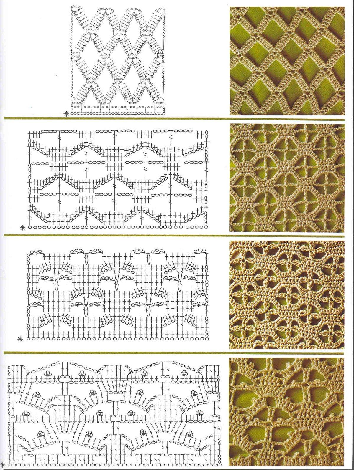 Картинки, вязание картинки крючком схемы