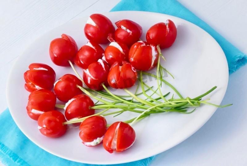фото нашла тюльпаны из помидор рецепт с фото окон