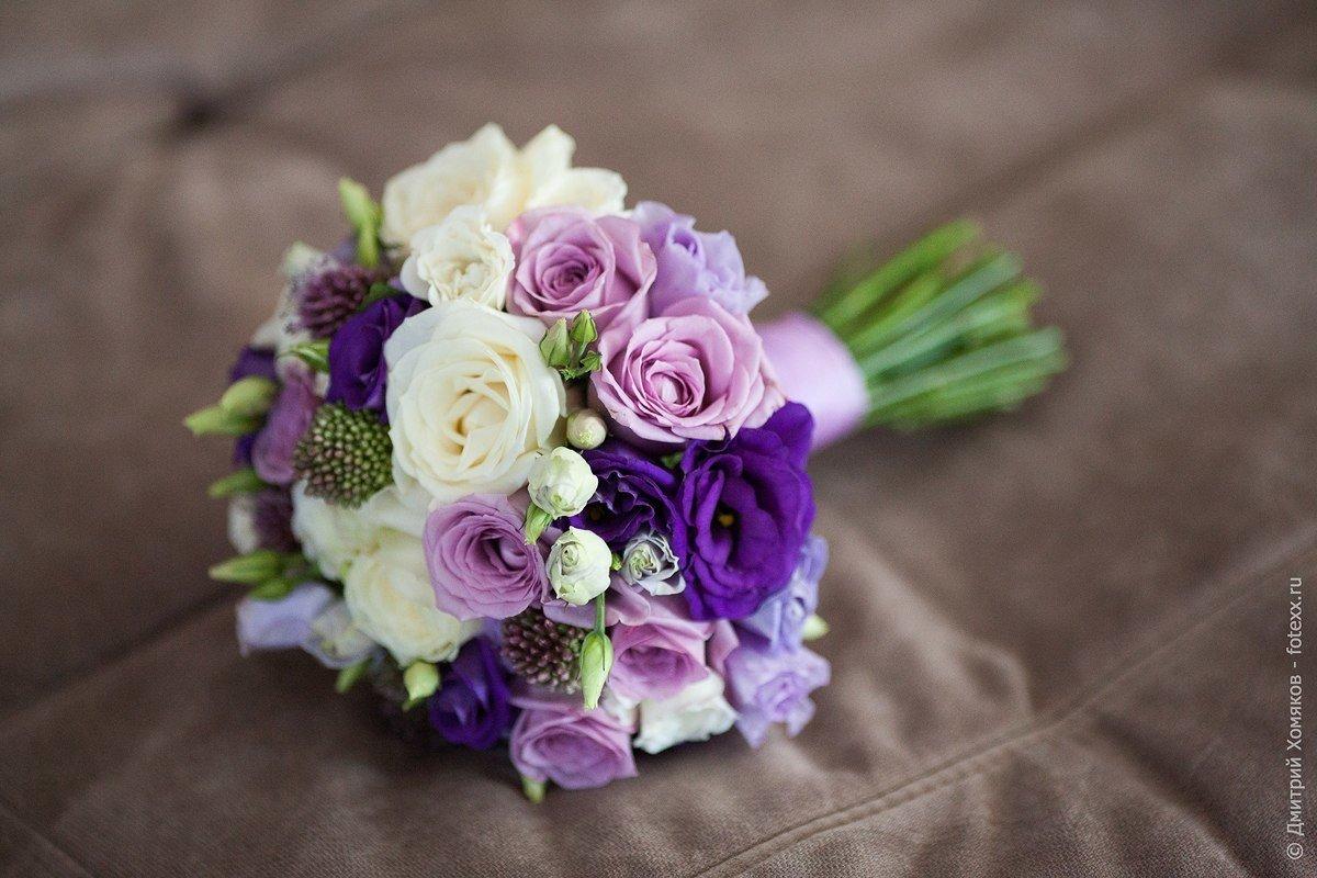 Фиолетовые букеты невесты купить