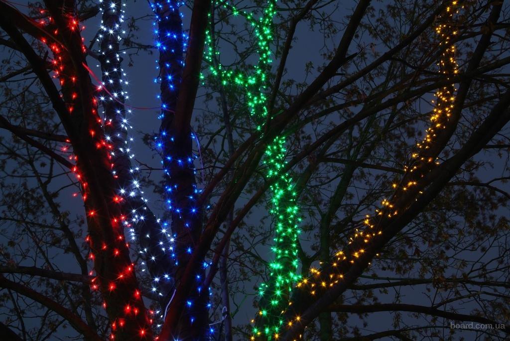 решил сделать гирлянды на деревья светодиодные фото лишь