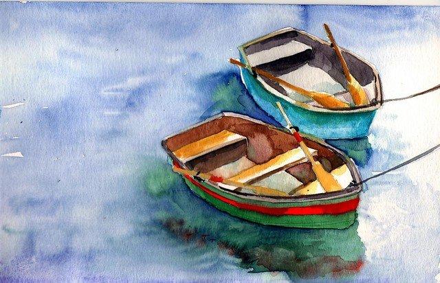 Как нарисовать лодку на воде — img 13