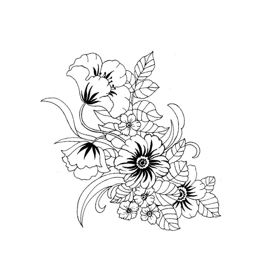 ходунки картинка узор цветок раскрасить одно