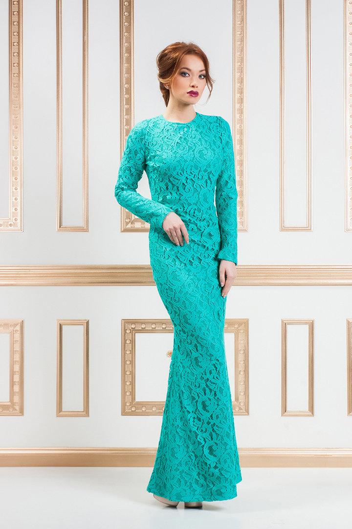 голубой картинка вечернего платья гипюровые светской тусовке
