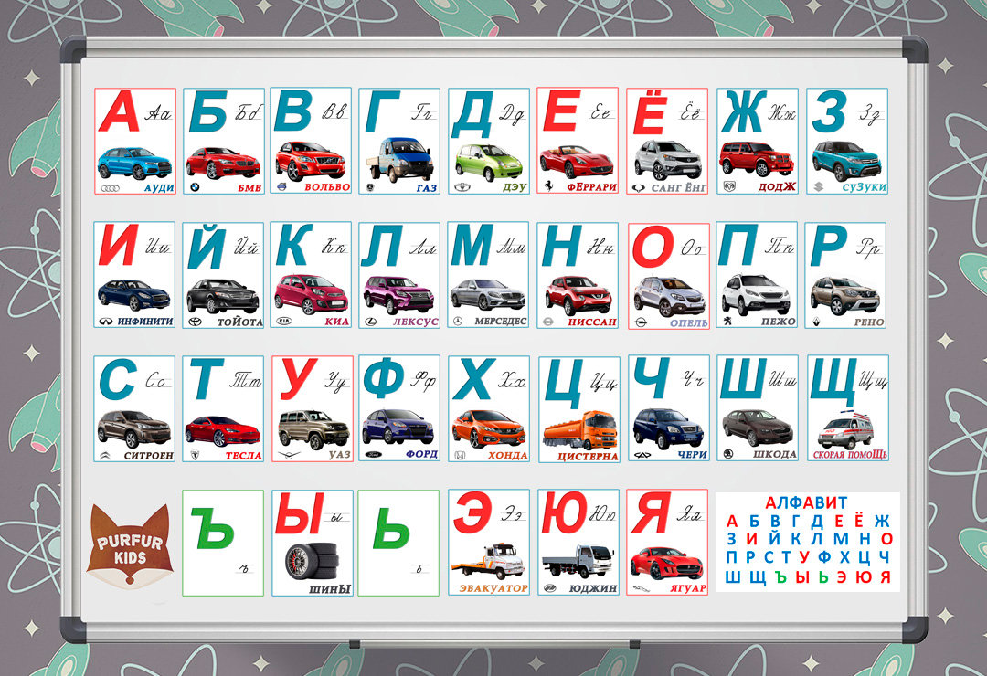 русский алфавит с машинками картинки тех пор