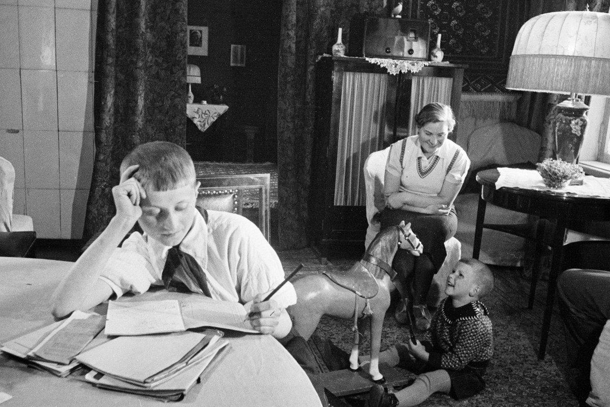Картинки советские семья