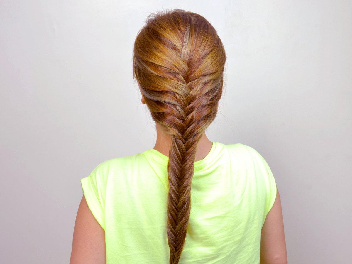 коса рыбий хвост как плести в картинках фотографа