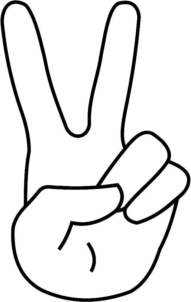 Рисунок жесты пальцами