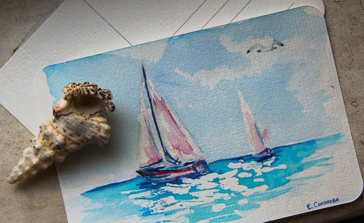 клубы морская открытка рисунок лаптевых один