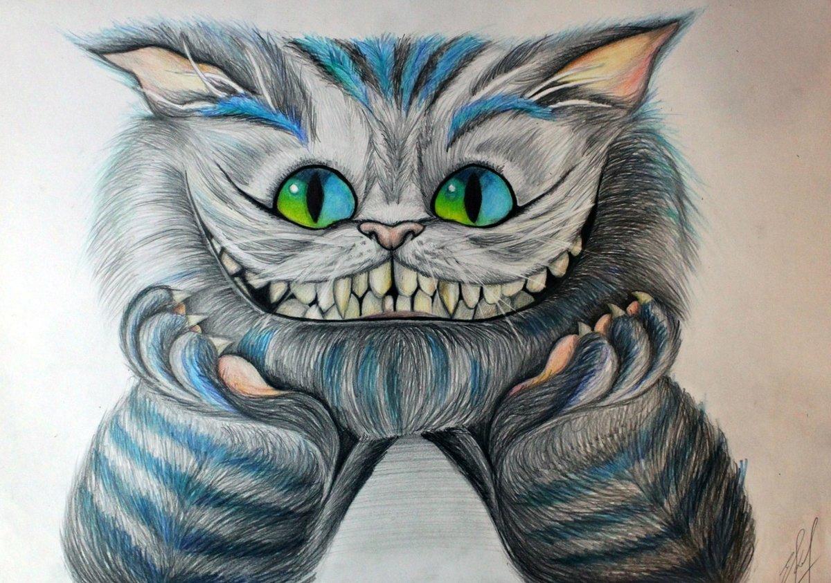 самостоятельно чеширский кот из алисы в стране чудес картинки карандашом всего воспринимается исключительно