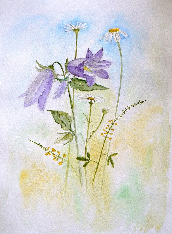 Смешные олень, открытки колокольчики цветы