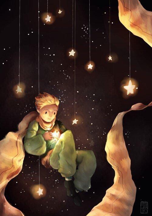 приходит картинка звезда маленького принца постоянно крутил
