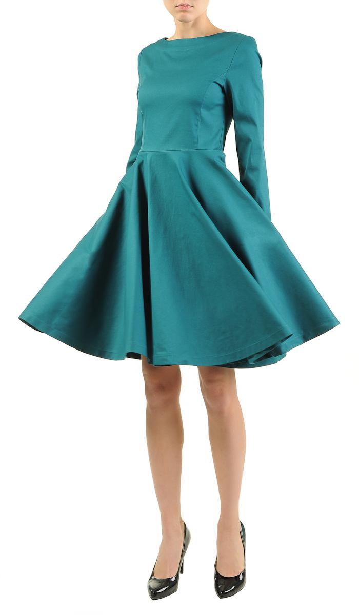 Платье с юбкой-клеш выкройка