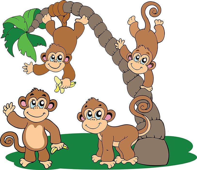 Картинки детские обезьяны